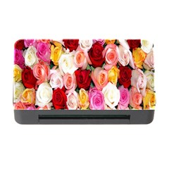 Rose Color Beautiful Flowers Memory Card Reader With Cf by Amaryn4rt