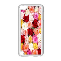 Rose Color Beautiful Flowers Apple Ipod Touch 5 Case (white) by Amaryn4rt