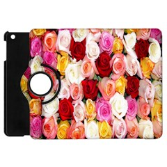 Rose Color Beautiful Flowers Apple Ipad Mini Flip 360 Case by Amaryn4rt