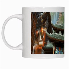 Japanese Art Painting Fantasy White Mugs by Amaryn4rt