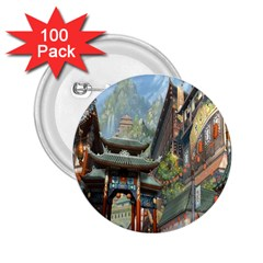 Japanese Art Painting Fantasy 2 25  Buttons (100 Pack)  by Amaryn4rt