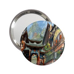 Japanese Art Painting Fantasy 2 25  Handbag Mirrors