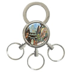 Japanese Art Painting Fantasy 3 Ring Key Chains