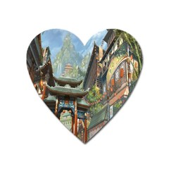 Japanese Art Painting Fantasy Heart Magnet by Amaryn4rt