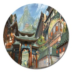 Japanese Art Painting Fantasy Magnet 5  (round) by Amaryn4rt