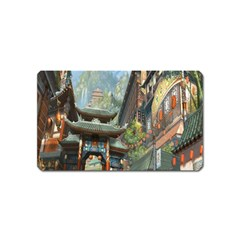 Japanese Art Painting Fantasy Magnet (name Card) by Amaryn4rt