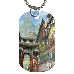 Japanese Art Painting Fantasy Dog Tag (two Sides)