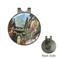 Japanese Art Painting Fantasy Hat Clips With Golf Markers
