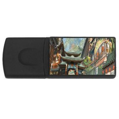 Japanese Art Painting Fantasy Usb Flash Drive Rectangular (4 Gb) by Amaryn4rt