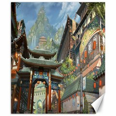Japanese Art Painting Fantasy Canvas 8  X 10
