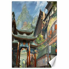 Japanese Art Painting Fantasy Canvas 20  X 30   by Amaryn4rt