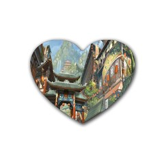 Japanese Art Painting Fantasy Heart Coaster (4 Pack)  by Amaryn4rt