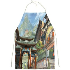 Japanese Art Painting Fantasy Full Print Aprons by Amaryn4rt