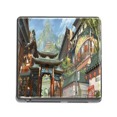 Japanese Art Painting Fantasy Memory Card Reader (square) by Amaryn4rt