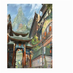 Japanese Art Painting Fantasy Large Garden Flag (two Sides) by Amaryn4rt