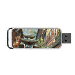 Japanese Art Painting Fantasy Portable Usb Flash (two Sides) by Amaryn4rt
