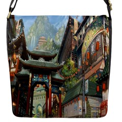 Japanese Art Painting Fantasy Flap Messenger Bag (s) by Amaryn4rt