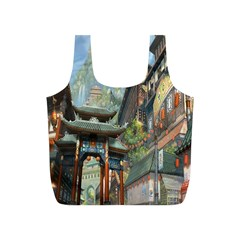 Japanese Art Painting Fantasy Full Print Recycle Bags (s)  by Amaryn4rt