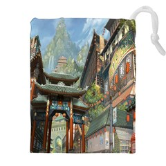 Japanese Art Painting Fantasy Drawstring Pouches (xxl) by Amaryn4rt