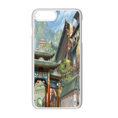 Japanese Art Painting Fantasy Apple Iphone 7 Plus White Seamless Case