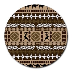 African Vector Patterns Round Mousepads