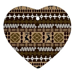 African Vector Patterns Ornament (heart)