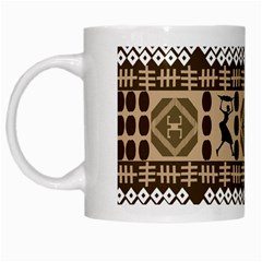 African Vector Patterns White Mugs