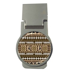African Vector Patterns Money Clips (round)