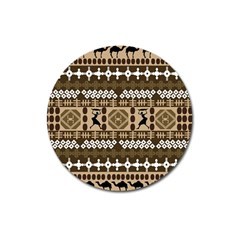 African Vector Patterns Magnet 3  (round) by Amaryn4rt