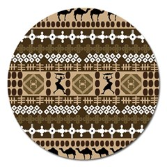 African Vector Patterns Magnet 5  (round) by Amaryn4rt