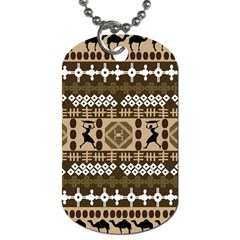 African Vector Patterns Dog Tag (one Side)