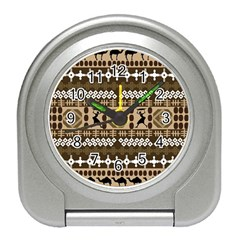African Vector Patterns Travel Alarm Clocks