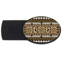 African Vector Patterns Usb Flash Drive Oval (4 Gb) by Amaryn4rt
