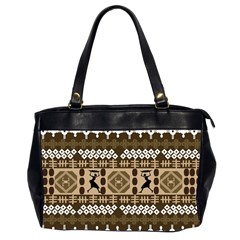 African Vector Patterns Office Handbags (2 Sides)  by Amaryn4rt