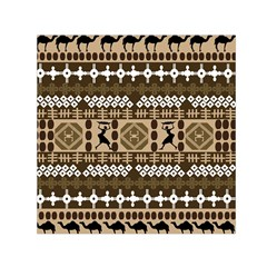 African Vector Patterns Small Satin Scarf (square) by Amaryn4rt