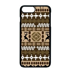 African Vector Patterns Apple Iphone 7 Plus Seamless Case (black)