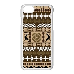 African Vector Patterns Apple Iphone 7 Seamless Case (white)