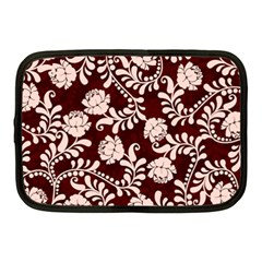 Flower Leaf Pink Brown Floral Netbook Case (medium)  by Alisyart