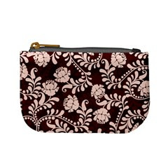 Flower Leaf Pink Brown Floral Mini Coin Purses by Alisyart