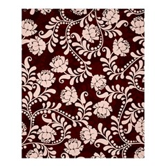 Flower Leaf Pink Brown Floral Shower Curtain 60  X 72  (medium)