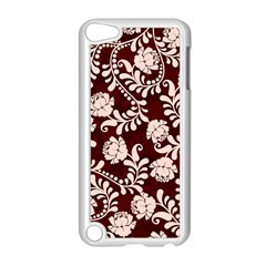 Flower Leaf Pink Brown Floral Apple Ipod Touch 5 Case (white) by Alisyart