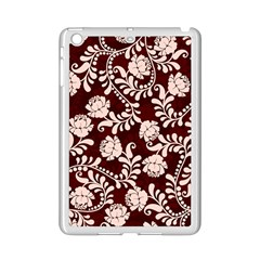 Flower Leaf Pink Brown Floral Ipad Mini 2 Enamel Coated Cases