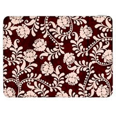 Flower Leaf Pink Brown Floral Samsung Galaxy Tab 7  P1000 Flip Case