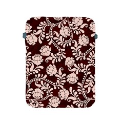 Flower Leaf Pink Brown Floral Apple Ipad 2/3/4 Protective Soft Cases