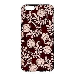 Flower Leaf Pink Brown Floral Apple Iphone 6 Plus/6s Plus Hardshell Case