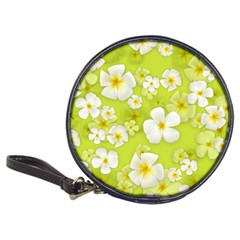 Frangipani Flower Floral White Green Classic 20 Cd Wallets