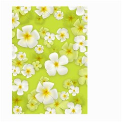 Frangipani Flower Floral White Green Large Garden Flag (two Sides) by Alisyart