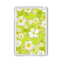 Frangipani Flower Floral White Green Ipad Mini 2 Enamel Coated Cases