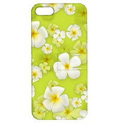 Frangipani Flower Floral White Green Apple Iphone 5 Hardshell Case With Stand