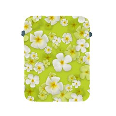 Frangipani Flower Floral White Green Apple Ipad 2/3/4 Protective Soft Cases